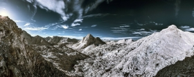 Totes Gebirge Infrarotfoto
