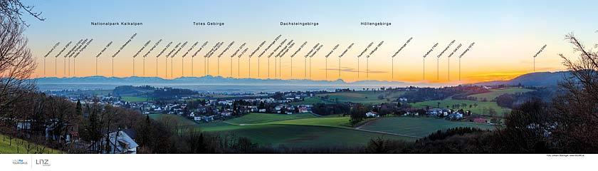 Panoramatafel - Aussicht Freinberg