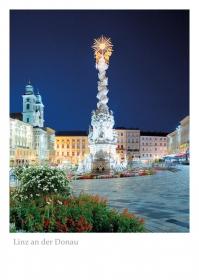 Linz an der Donau - Hauptplatz am Abend