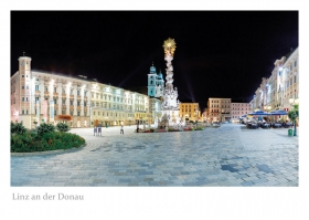Linz an der Donau - Hauptplatz bei Nacht